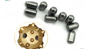 Tungsten carbide button bits for carbide drill bits